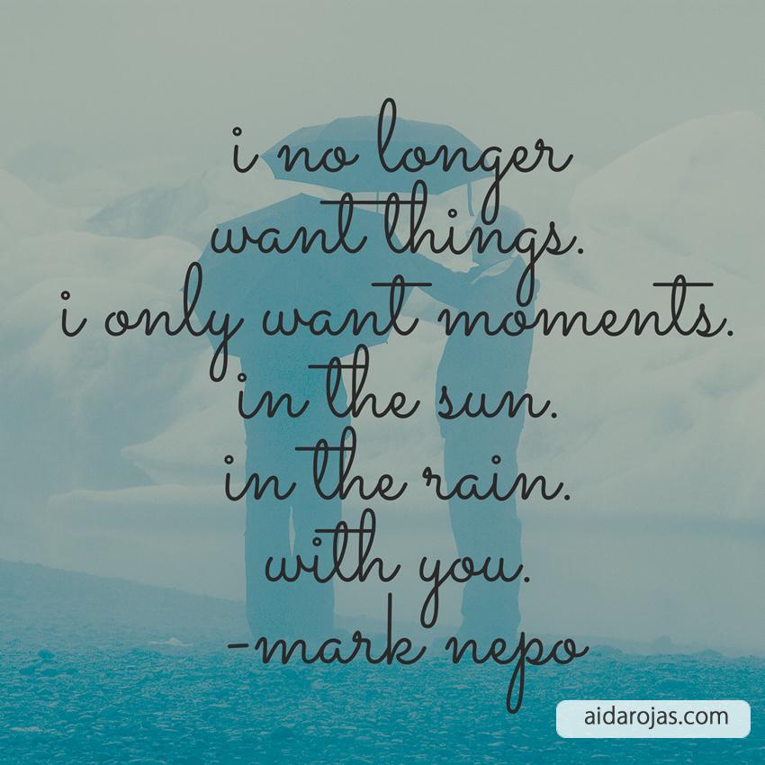 I No Longer Want Things