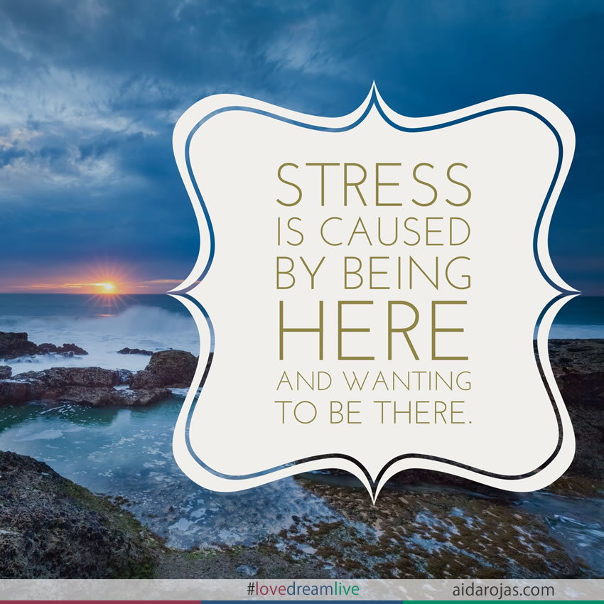 stress is caused by being here